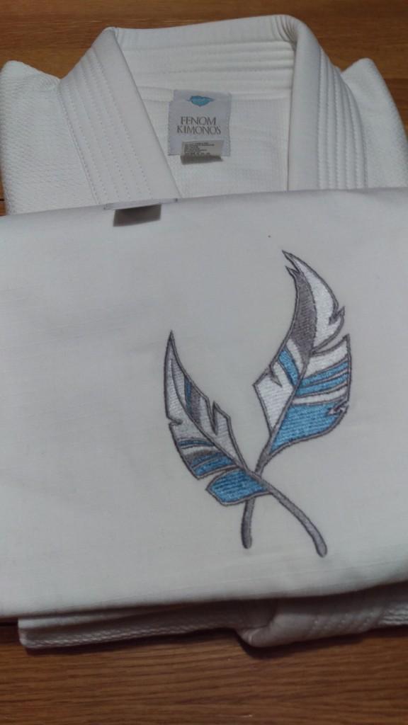 Feather embroidered gi from Fenom Kimonos