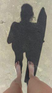 Boogie Boarding shadow